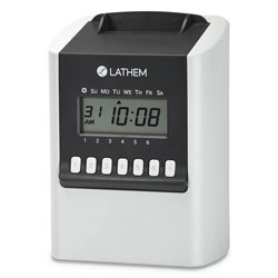 Lathem Time 700E Calculating Time Clock, White