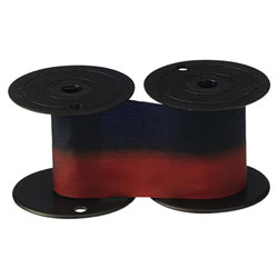 Lathem Time 7-2CN 2 Color Replacement Ribbon for 1221 & 4001 Time Recorders, Blue/Red Ink