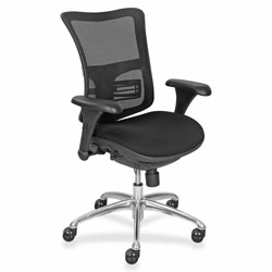 La-Z-Boy Synchro Mesh Chair, 27 in x 20'' x 40 in, Black