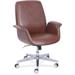 La-Z-Boy Task Chair, ComfortCore Gel, 20-1/4 inWx29 inDx48 inH, Brown