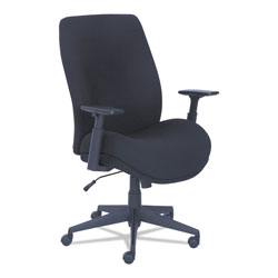 La-Z-Boy Baldwyn Series Mid Back Task Chair, Supports up to 275 lbs., Black Seat/Black Back, Black Base