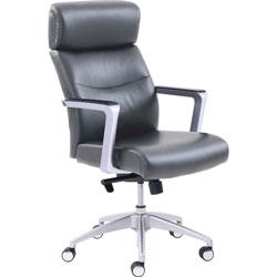 La-Z-Boy Chair, Bonded Leather, 27-1/4 inWx30 inLx49-1/4 inH, Gray