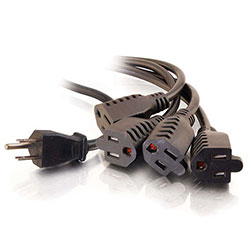 Cables To Go 29803 18in 16 AWG 1-to-4 Power Cord Splitter