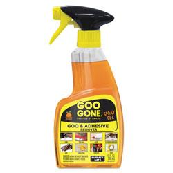 Goo Gone® Spray Gel Cleaner, Citrus Scent, 12 oz Spray Bottle, 6/Carton