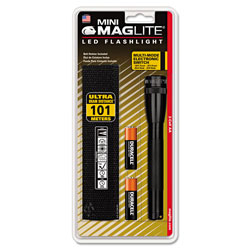 Maglite® Mini LED Flashlight, 2 AA Batteries (Included), Black