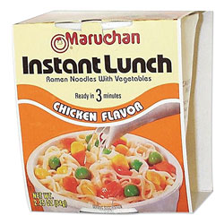 Maruchan Instant Lunch, Chicken, 2.25 oz Cups, 12/Carton