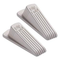 Master Caster Big Foot Doorstop, No Slip Rubber Wedge, 2.25w x 4.75d x 1.25h, Beige, 2/Pack