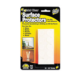 Master Caster Scratch Guard Surface Protectors, 0.75 in dia, Circular, Clear, 20/Pack