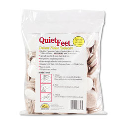 Master Caster Quiet Feet Deluxe Noise Reducers, 1.25 in dia, Circular, Beige, 100/Pack