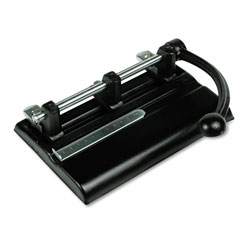 Master Pro Master Mfg® 40-Sheet Lever Action Two- to Seven-Hole Punch, 13/32 in Holes, Black