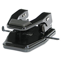 Master Pro Master Mfg® 40-Sheet Heavy-Duty Two-Hole Punch, 9/32 in Holes, Padded Handle, Black