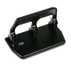 Master Pro Master Mfg® 40-Sheet Heavy-Duty Three-Hole Punch, 9/32 in Holes, Gel Pad Handle, Black