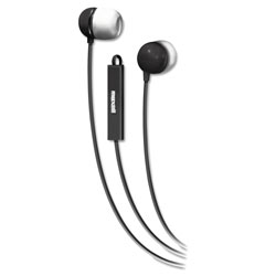 Maxell In-Ear Buds with Built-in Microphone, Black