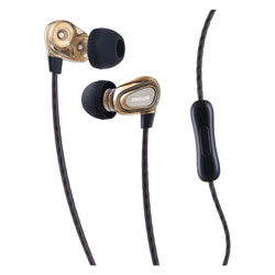 Maxell Dual Driver Earbuds with MIC, Gold