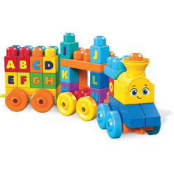 Mega Bloks Educational Playset, Musical Train, 4-1/2 inWx15 inLx11-1/2 inH