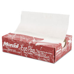 Marcal Eco-Pac Natural Interfolded Dry Wax Paper, 8 in x 10.75 in, 500/Box, 12 Boxes/Carton