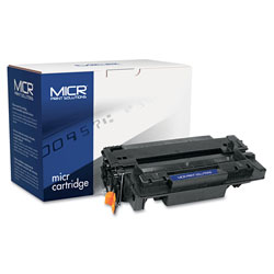 MICR Print Solutions Compatible CE255X(M) (55XM) High-Yield MICR Toner, 12500 Page-Yield, Black