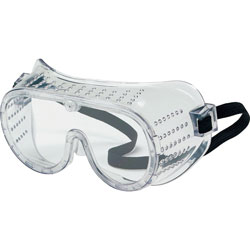 MCR Safety Economy Goggle, Wide, Perforated Frame, PVC Body, CL