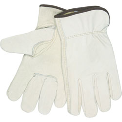 MCR Safety Driver Gloves, Leather, Large, Cream