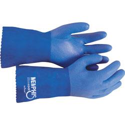 MCR Safety Seamless Gloves, w/ Sandy Finish, Large, Blue