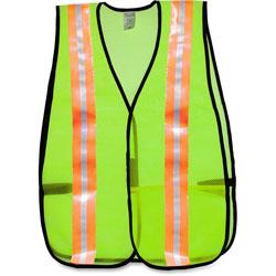 MCR Safety General Purpose Vest, Mesh, Reflective Tape, Orange/SR
