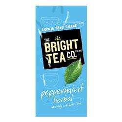 The Bright Tea Co. Tea Freshpack Pods, Peppermint Herbal, 0.07 oz, 100/Carton