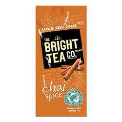 The Bright Tea Co. Tea Freshpack Pods, Chai Spice, 0.09 oz, 100/Carton