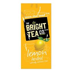 The Bright Tea Co. Tea Freshpack Pods, Lemon Herbal, 0.1 oz, 100/Carton