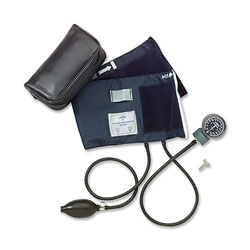 Medline Nite-Shift Premier Sphygmomanometer - Aneroid, Handheld, Premier, Large Adult