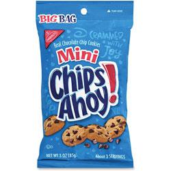 Nabisco Mini Chips Ahoy, 3oz., 12/CT, Blue