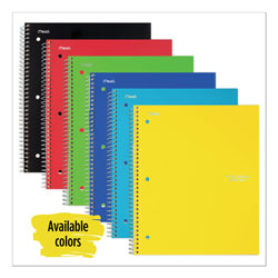 Mead Wirebound Notebook, 4 sq/in Quadrille Rule, 11 x 8.5, White, 100 Sheets