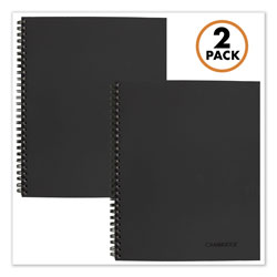 Mead Wirebound Meeting Notes Notebook Plus Pack, Black, 11 x 8.88, 80 Sheets, 2/Pack