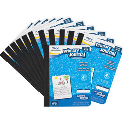 Mead Primary Journal, Composition, 100 Sheet, 7.5 in x 9.8 in, 12-pack, Assorted