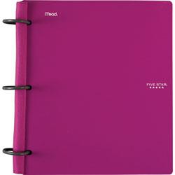 Mead Flex Hybrid Notebook, 1-1/2 in Ring, 300 Sheet Cap, Purple