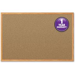 Mead Cork Board, 4 inx3 in, Oak