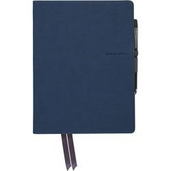 Mead Case Bound Notebook, 7-3/5 inWx3/5 inLx9-9/10 inH, Navy