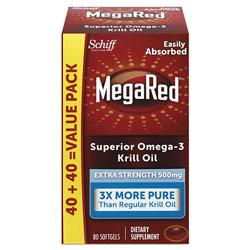 MegaRed® Extra Strength Omega-3 Krill Oil Softgel, 80 Softgels