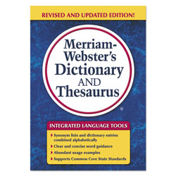 Merriam-Webster Merriam-Webster's Dictionary and Thesaurus, 992 Pages