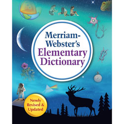 Merriam-Webster Dictionary, Elementary, 8-1/4 inWx10-1/4 inLx1-1/4 inH, Multi