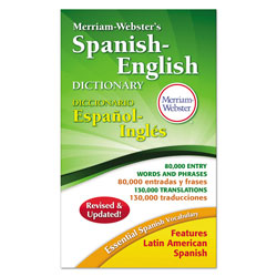 Merriam-Webster Merriam-Webster's Spanish-English Dictionary, 928 Pages