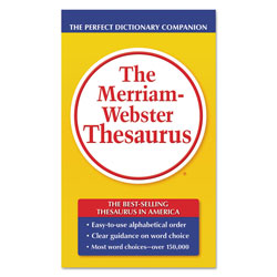 Advantus The Merriam-Webster Thesaurus, Dictionary Companion, Paperback, 800 Pages
