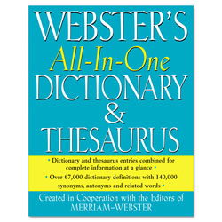 Merriam-Webster All-In-One Dictionary/Thesaurus, Hardcover, 768 Pages