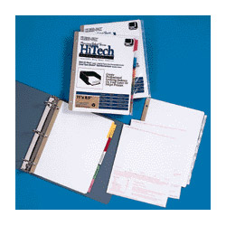 "Kleer-Fax Insertable Ring Book Indexes, 5-Tabs, 11"" x 8-1/2"", Multicolor"