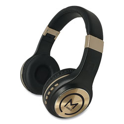 Morpheus 360® SERENITY Stereo Wireless Headphones with Microphone, Black with Gold Accents