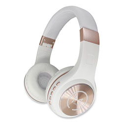 Morpheus 360® SERENITY Stereo Wireless Headphones with Microphone, White with Rose Gold Accents