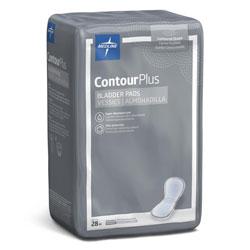 Medline Capri Plus Bladder Control Pads, Regular, 5.5 in x 10.5 in, 28/Pack