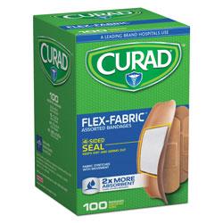 Medline Flex Fabric Bandages, Assorted Sizes, 100 per Box