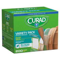 Curad Variety Pack Assorted Bandages, 200/Box