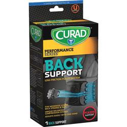 Medline Lower Back Support, Curad, Lightweight, Black