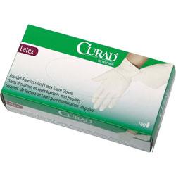 Curad Latex Exam Gloves, Powder-Free, X-Large, 90/Box
